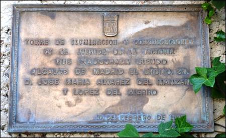Placa conmemorativa de la inauguración