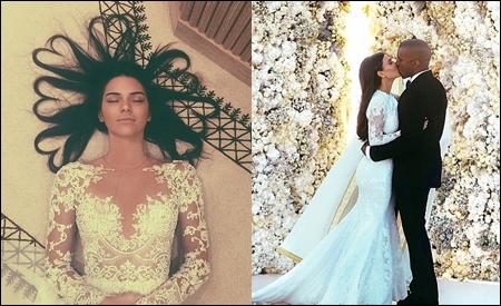 Kendall Jenner y Kim Kardashian & Kanye West