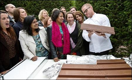 Heston Blumenthalel y su inmenso Kit Kat