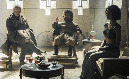 Varys, Tyrion y Missandei