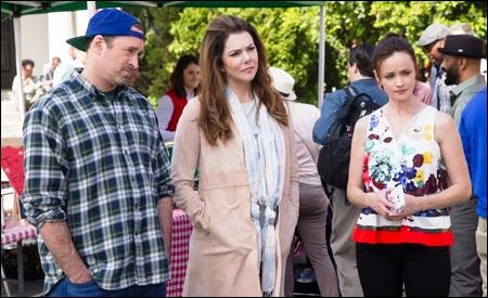 Luke, Lorelai y Rory